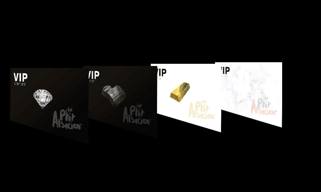 Cartes VIP - Le P'tit Alsacien