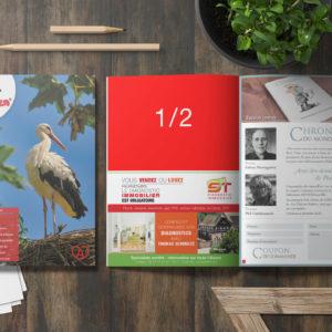 Encart publicitaire - Magazine Alsacien - Demi page
