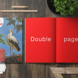 Encart publicitaire - Magazine Alsacien - Double page