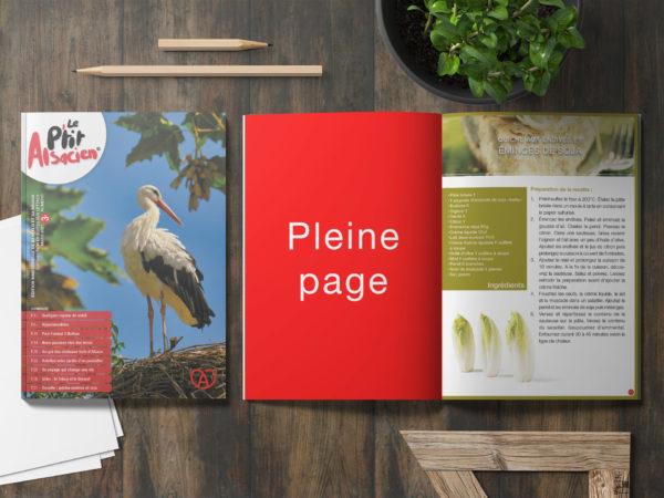 Encart publicitaire - Magazine Alsacien - Pleine page