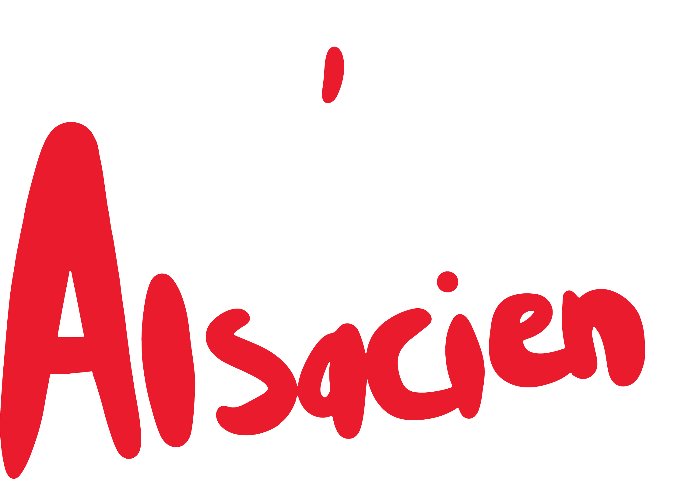 Le P'tit Alsacien - Alternative white logo